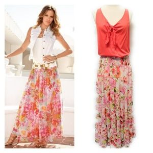 BOSTON PROPER Womens Floral Maxi Skirt Size 8